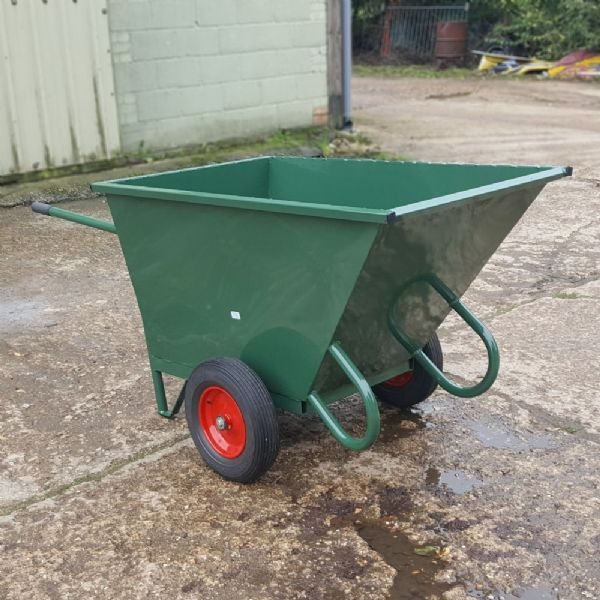 Large Steel Wheelbarrow Skip | Industrial Waste Barrow swarfe Bin